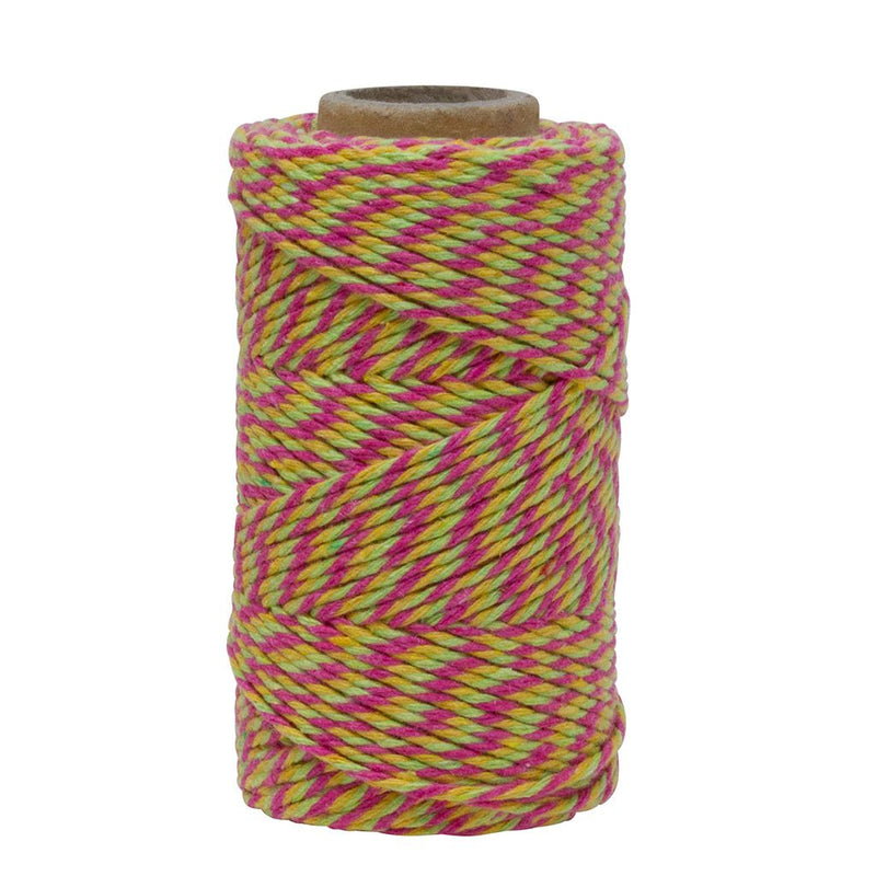 Dark Pink, Lemon & Lime No.6 Cotton Bakers Twine