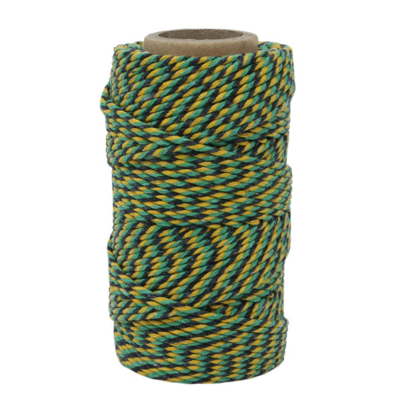 Green, Black & Yellow No.6 Cotton Bakers Twine