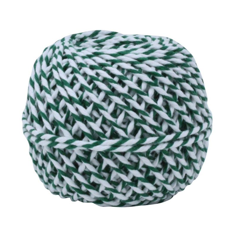Green & White 50m Cotton Twine Balls