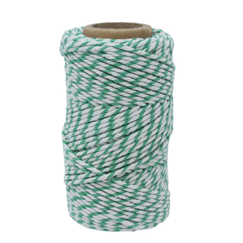Green & White No.6 Cotton Football Twine