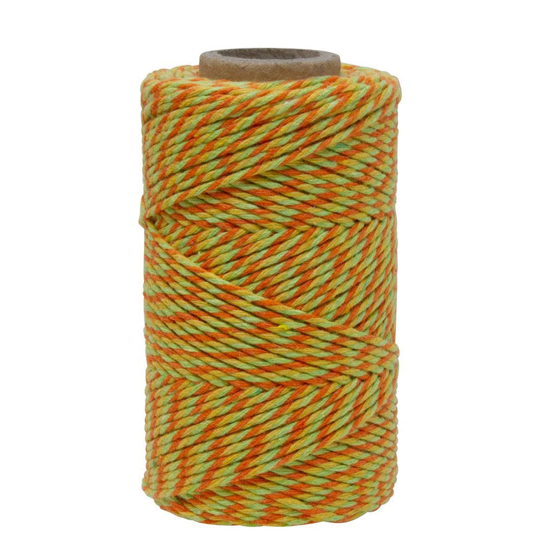 Lemon, Lime Green & Orange No.6 Cotton Craft Twine