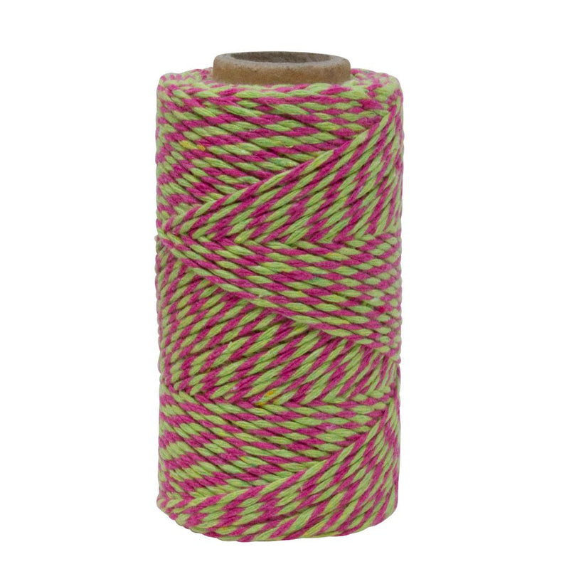 Lime Green & Dark Pink No.6 Cotton Craft Twine
