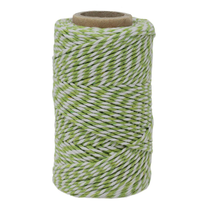 Lime Green & White No.6 Cotton Craft Twine