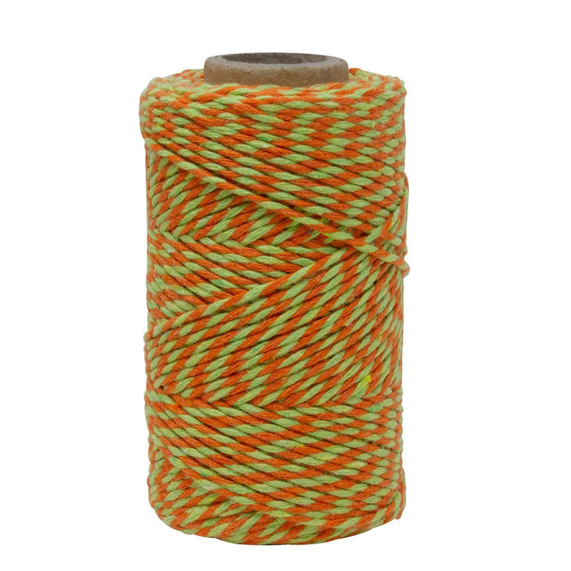 Orange & Lime Green No.6 Cotton Craft Twine