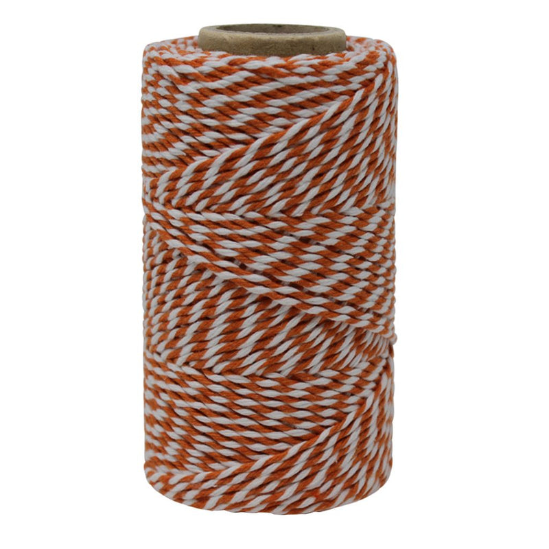 Orange & White No.6 Cotton Bakers Twine