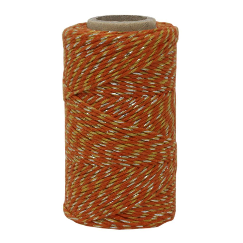 Orange, Yellow & Silver Sparkle No.6 Cotton Craft Twine