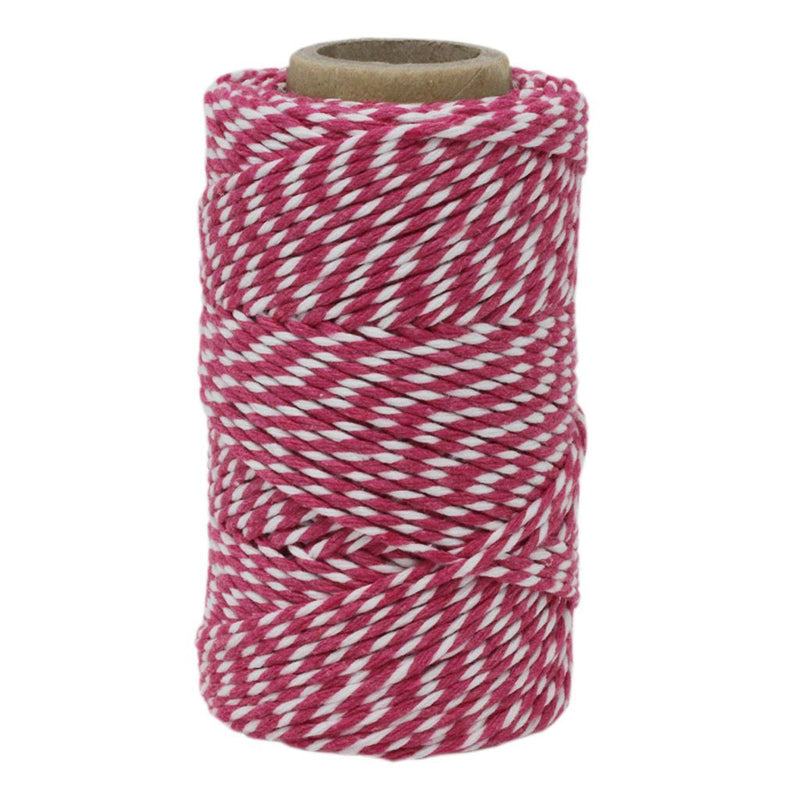 Pink & White No.6 Cotton Craft Twine