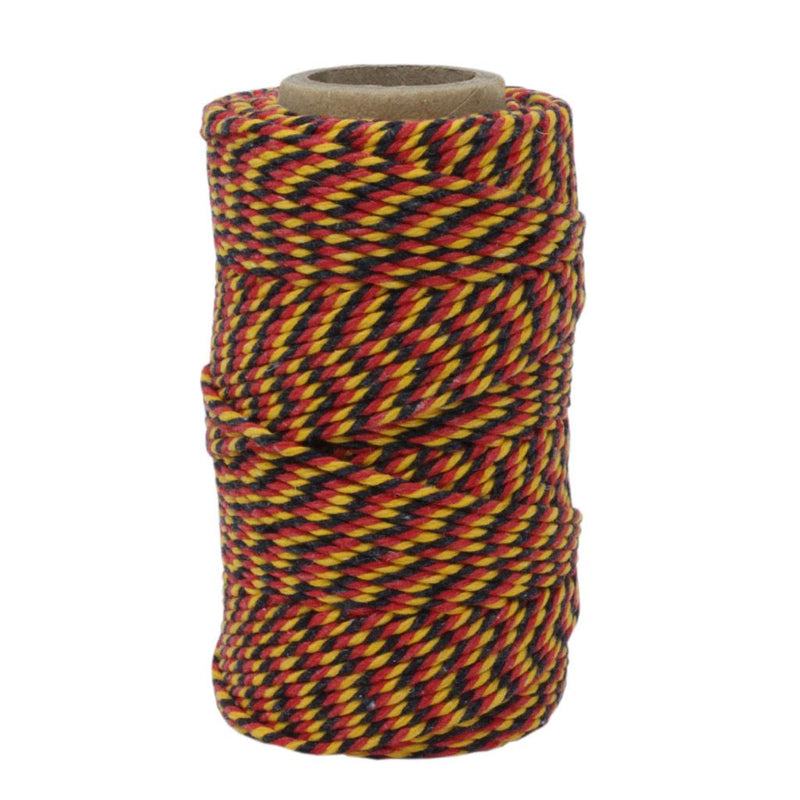 Red, Black & Yellow No.6 Cotton Bakers Twine