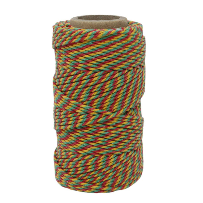 Red, Green & Yellow No.6 Cotton Bakers Twine