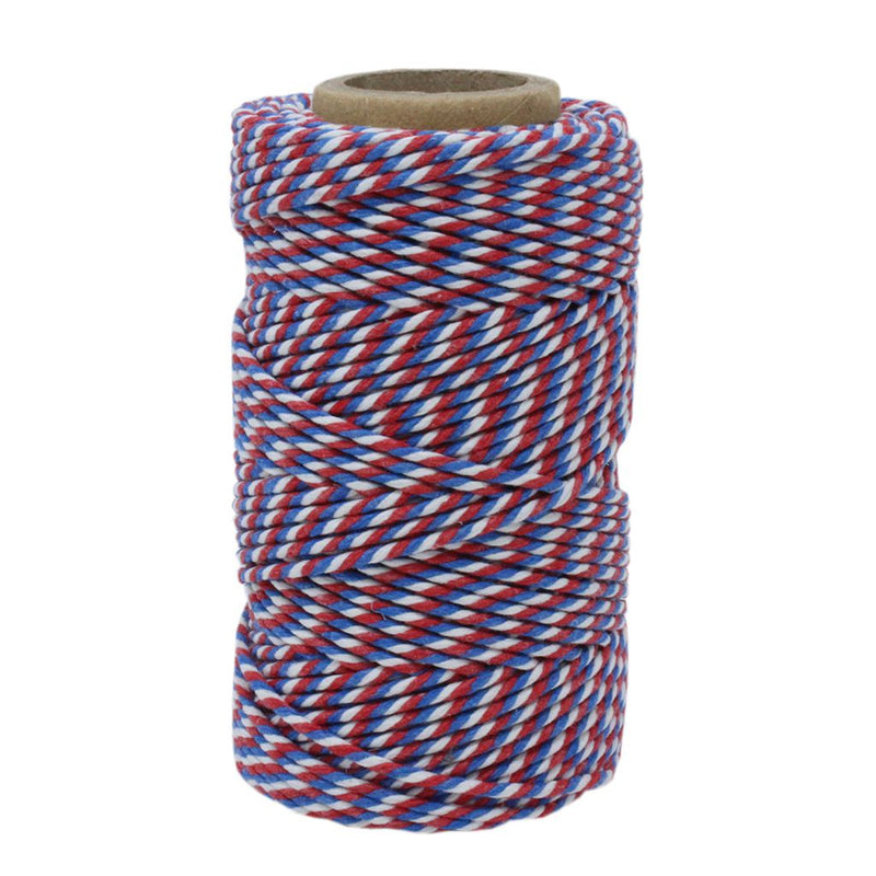 Red, White & Blue No.6 Cotton Football Twine