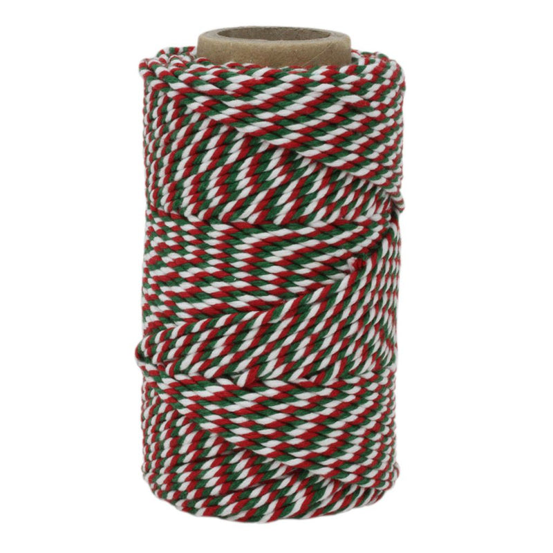 Red, White & Green No.6 Cotton Bakers Twine
