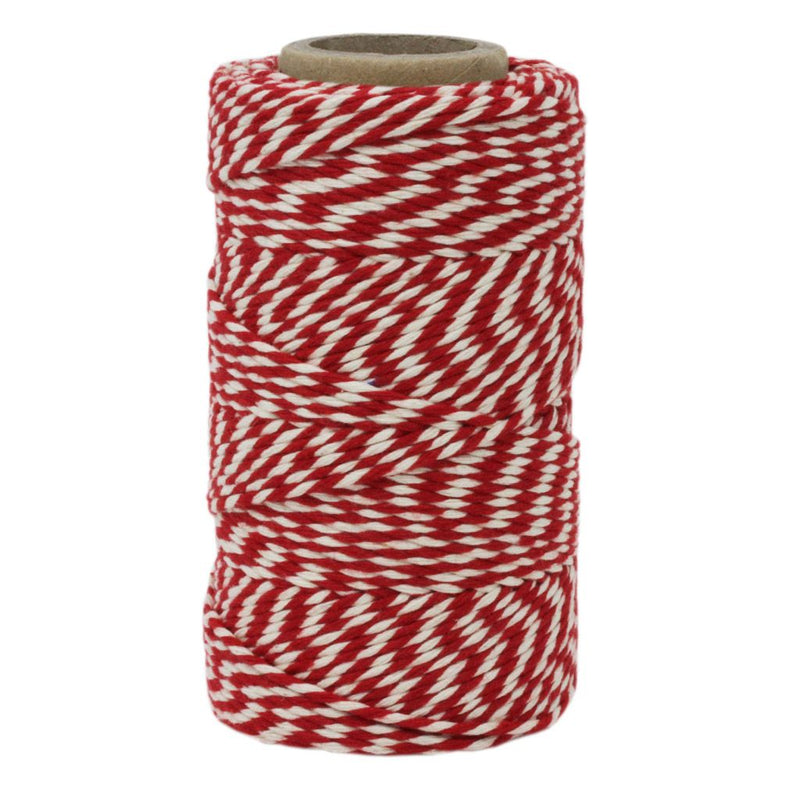 Red & White No.6 Cotton Football Twine
