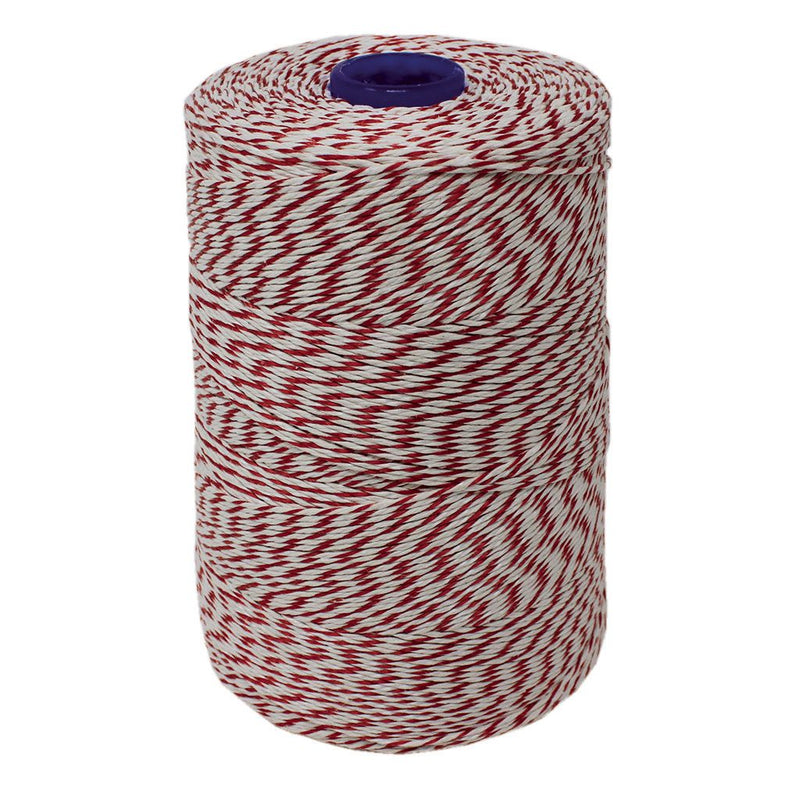 Red/White Non-Elasticated 2000T Machine String/Twine 1050m/Kg