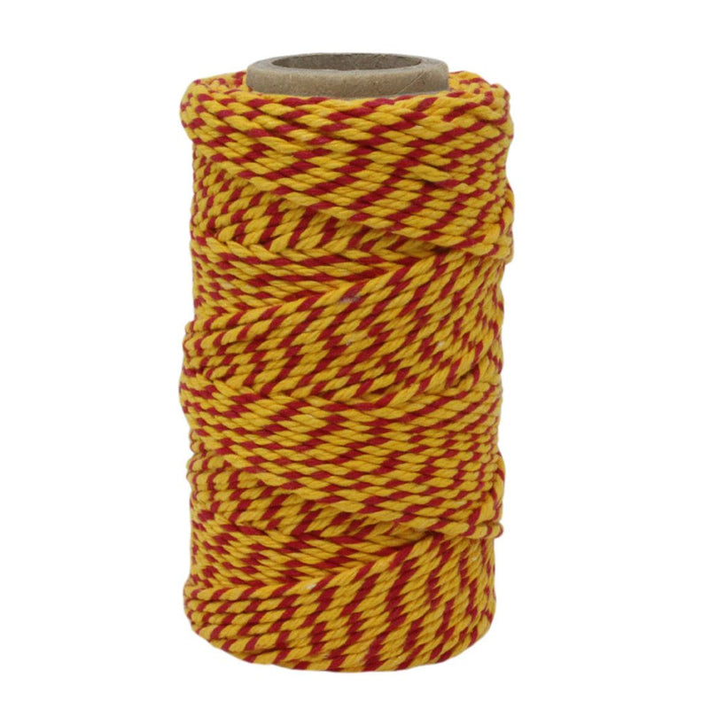 Red & Yellow No.6 Cotton Craft Twine
