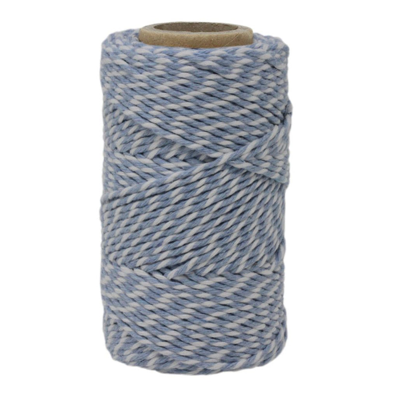 Sky Blue & White No.6 Cotton Bakers Twine