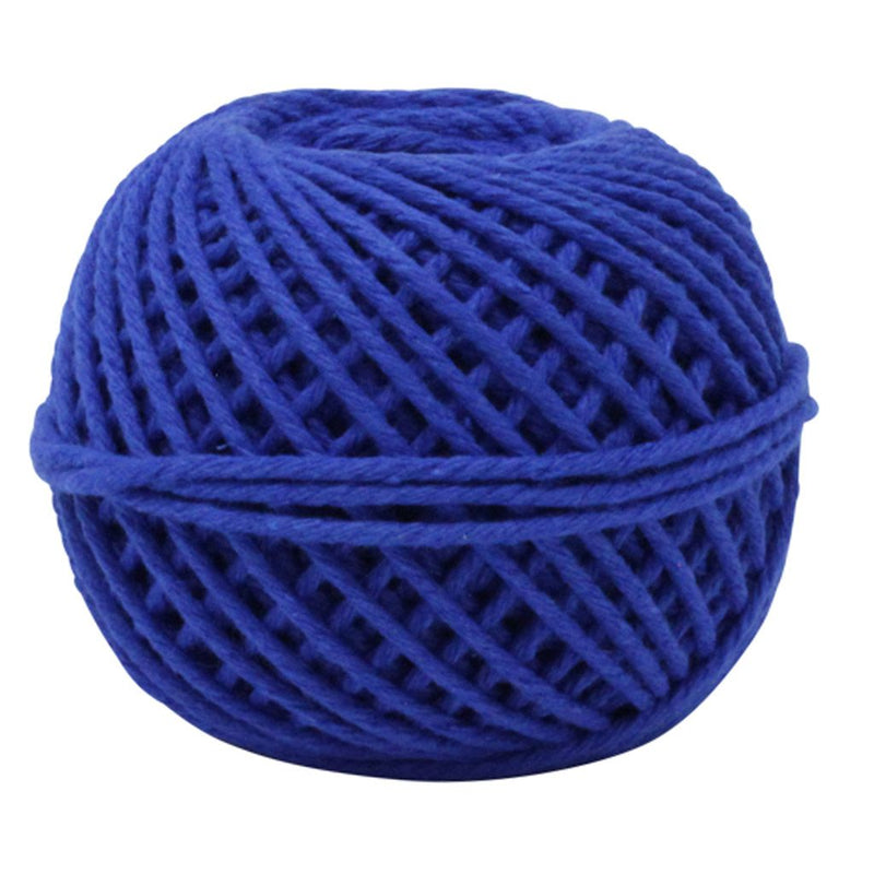 Solid Blue 50m Cotton Twine Balls