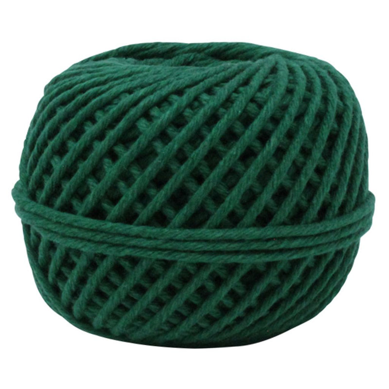 Solid Green 50m Cotton Twine Balls