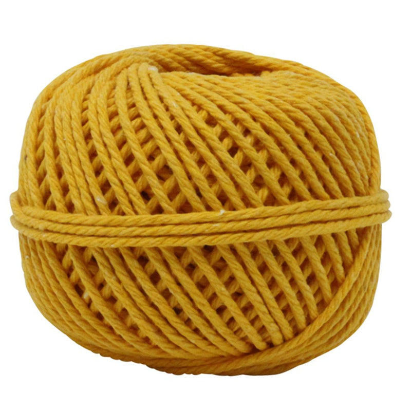 Solid Yellow 50m Cotton Twine Balls