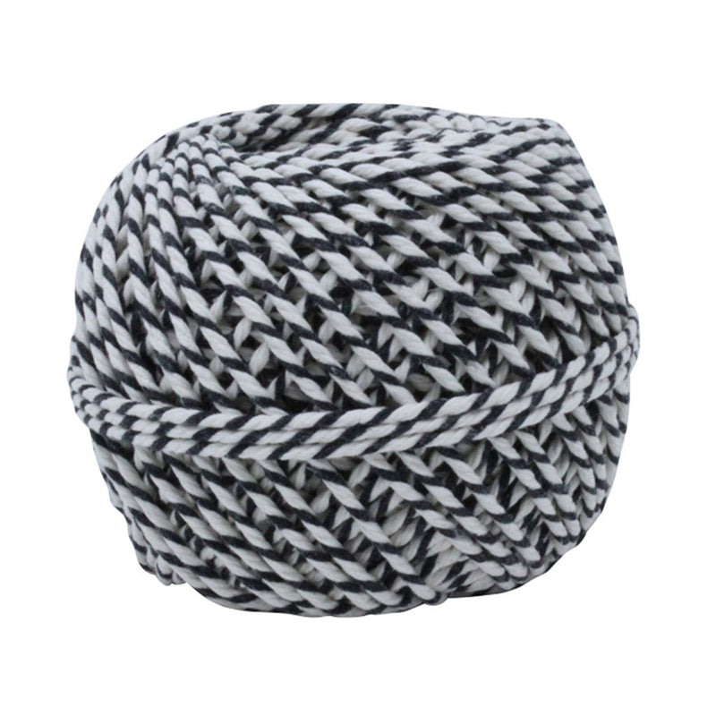 White & Black 50m Cotton Twine Balls