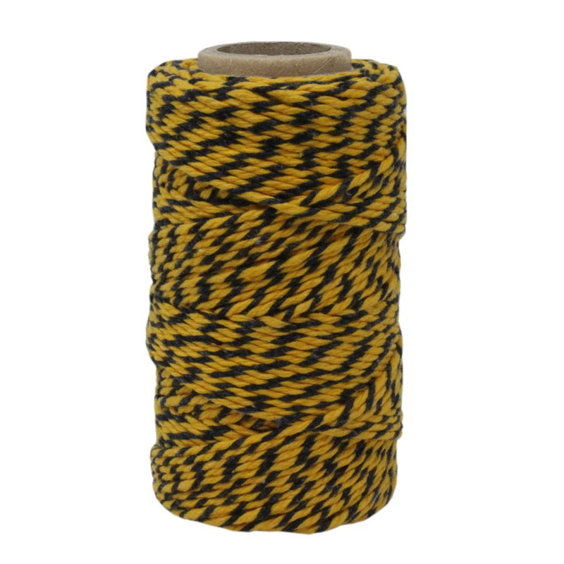 Yellow & Black No.5 Cotton Craft Twine