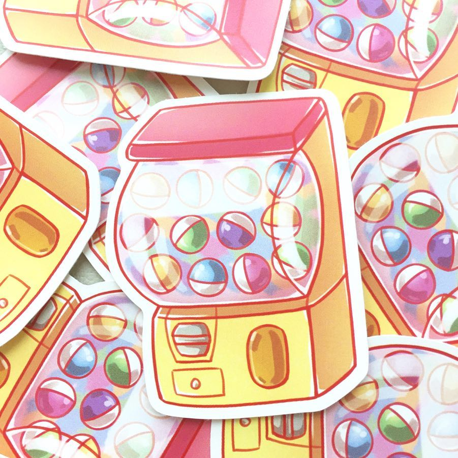 Gacha Machine Stickers