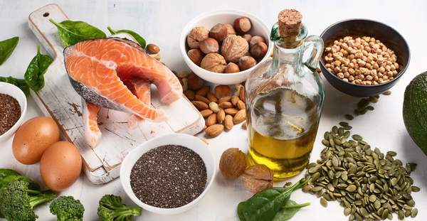 omega-3 foods on a table
