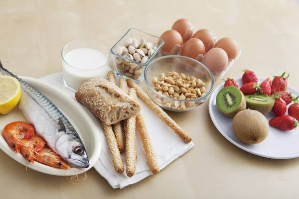 Foods that cause allergic reactions