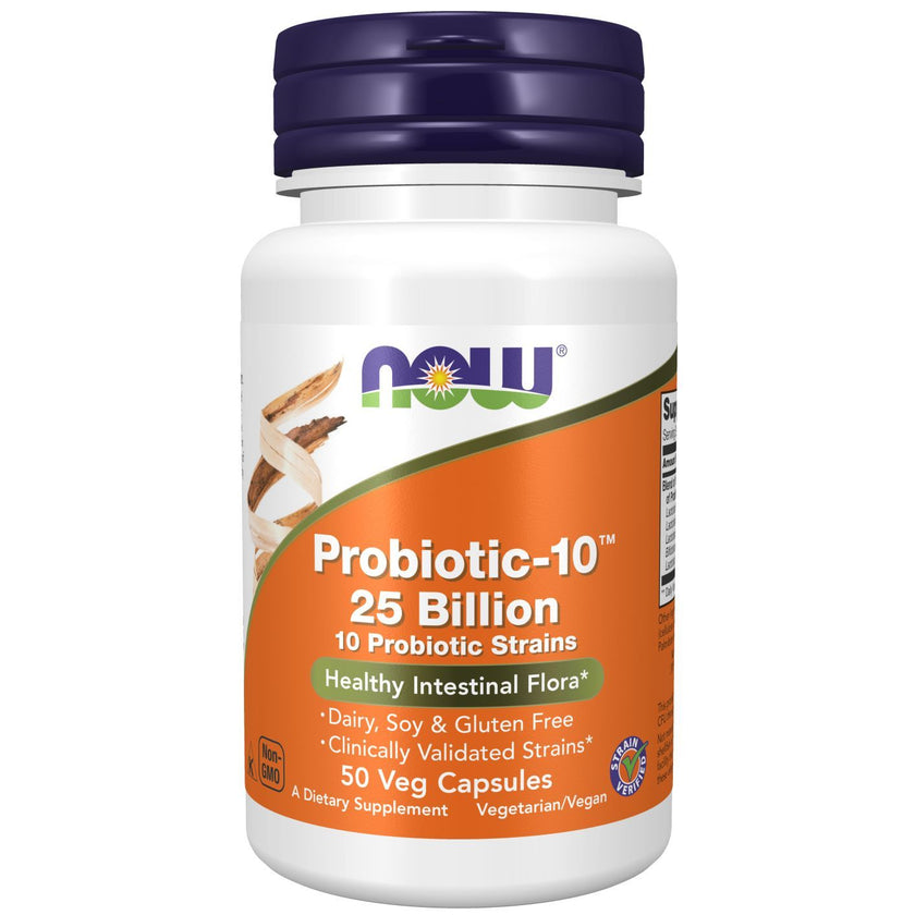 NowFoods Probiotic-10™ 25 Billion - 50 Capsules