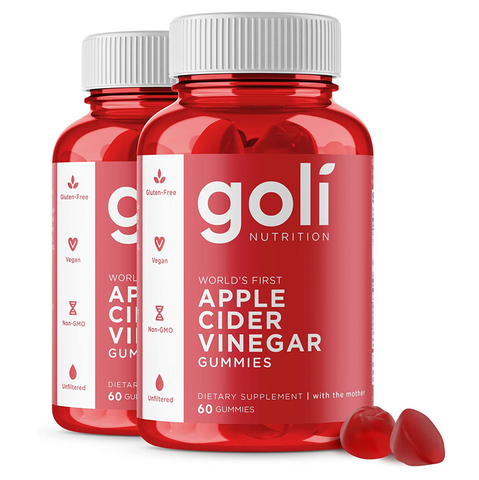Goli Nutrition Apple Cider Vinegar (2 Pack) - 2x60 Gummies