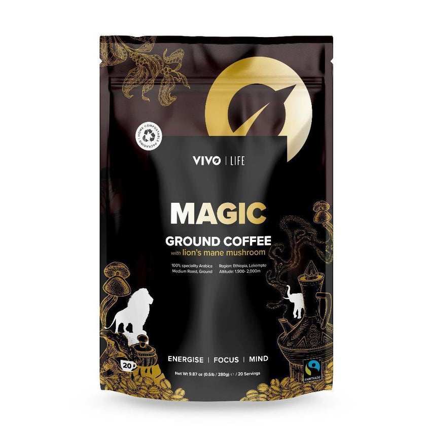 Vivo Life MAGIC Ground coffee & lion's mane mushroom - 120g