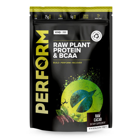 Vivo Life Perform Raw Plant Protein & BCAA Cacao - 532g