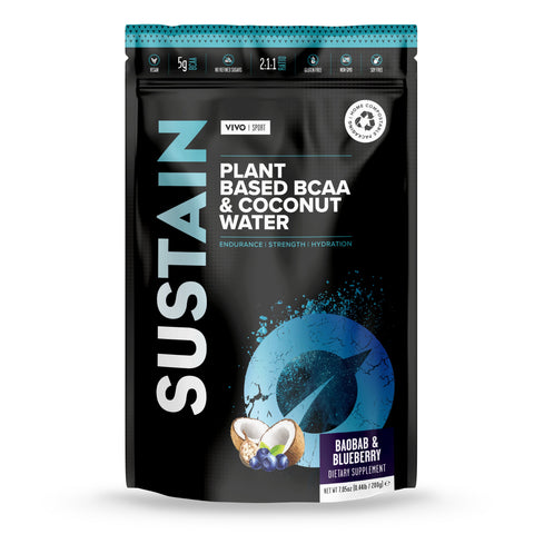 Vivo Life Sustain Plant Based BCAA & Coconut Water Baobab & Blueberry - 200g