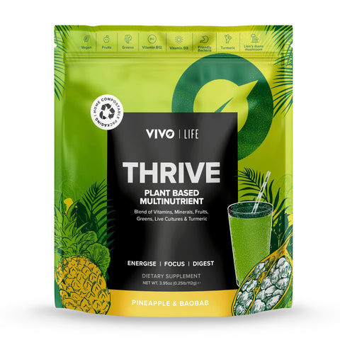 Vivo Life Thrive Plant based Multinutrient Pineapple & Baobab - 112g
