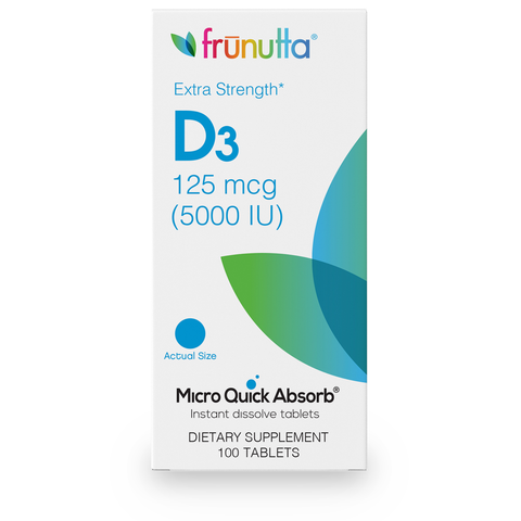 frunutta Vitamin D3 5000 IU - 100 Tablets