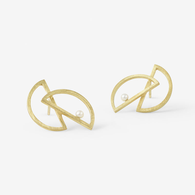 Carla Pearl Earrings (Double)
