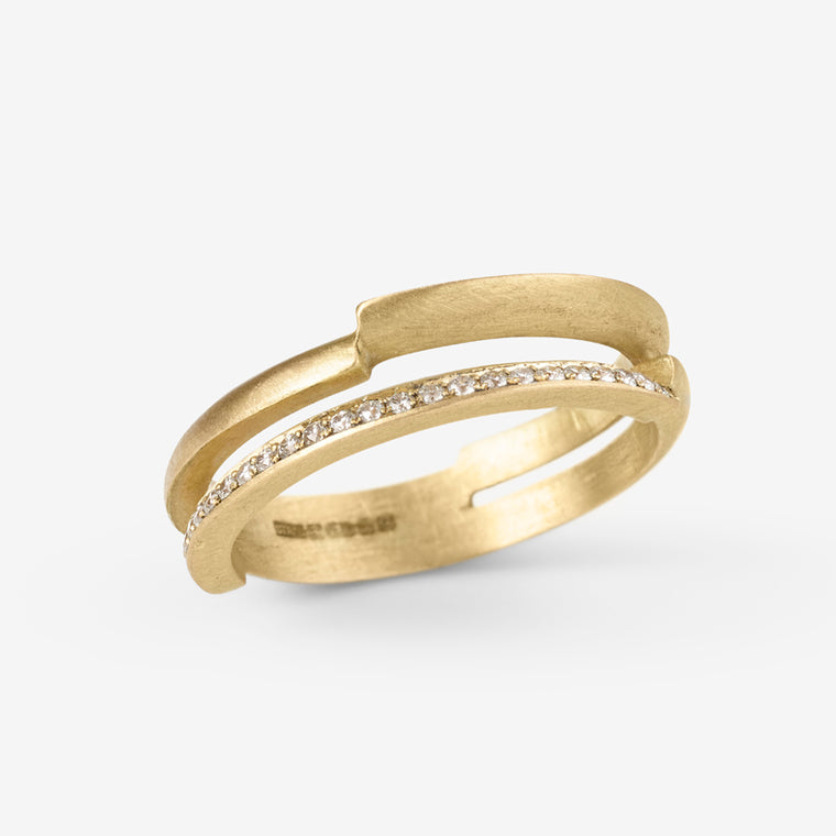 Double Ivana Half Eternity Ring