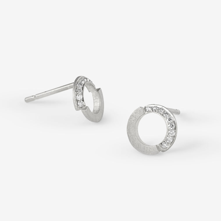 Mini Ivana Loop Diamond Earrings