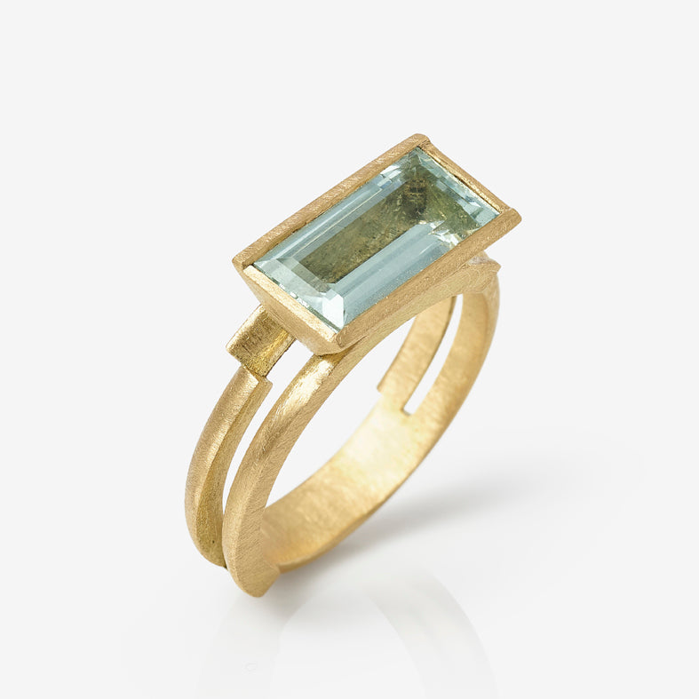 Aquamarine Ivana Ring Double