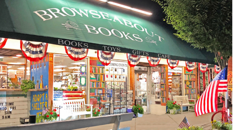 a storefront of a book shop