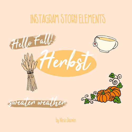Instagram Story Elements - HERBST (54 Elemente)
