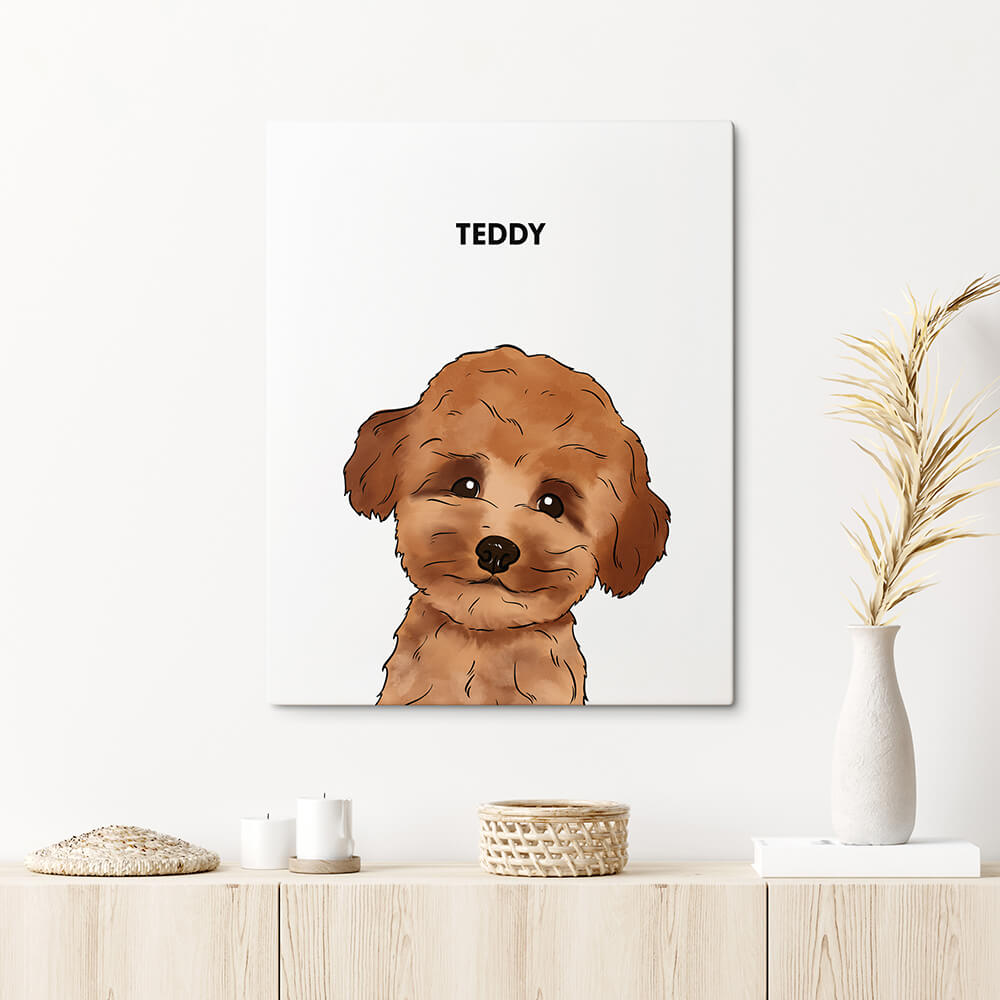 Custom One Pet Canvas Portrait