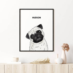 Load image into Gallery viewer, Custom One Pet Framed Portrait
