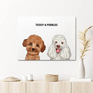 Load image into Gallery viewer, Custom Two Pet Canvas Portrait
