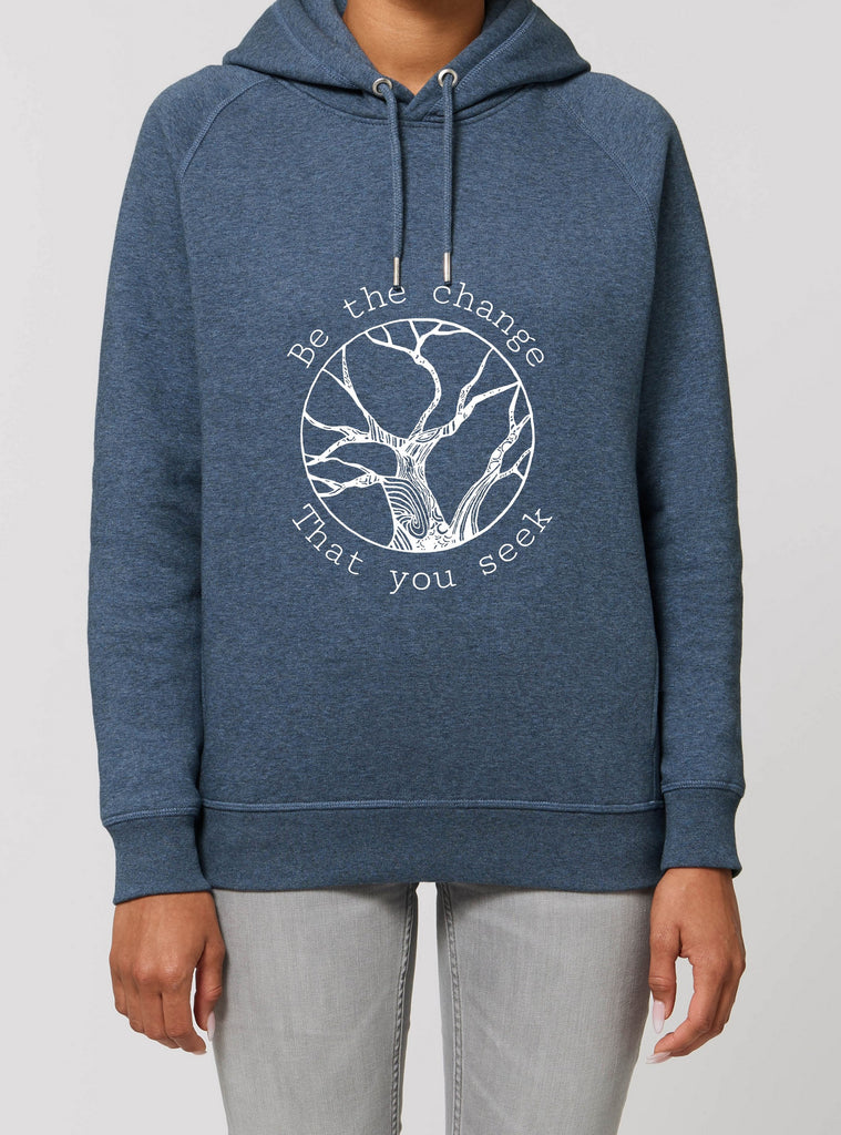 Be The Change - Unisex Organic Cotton Hoodie