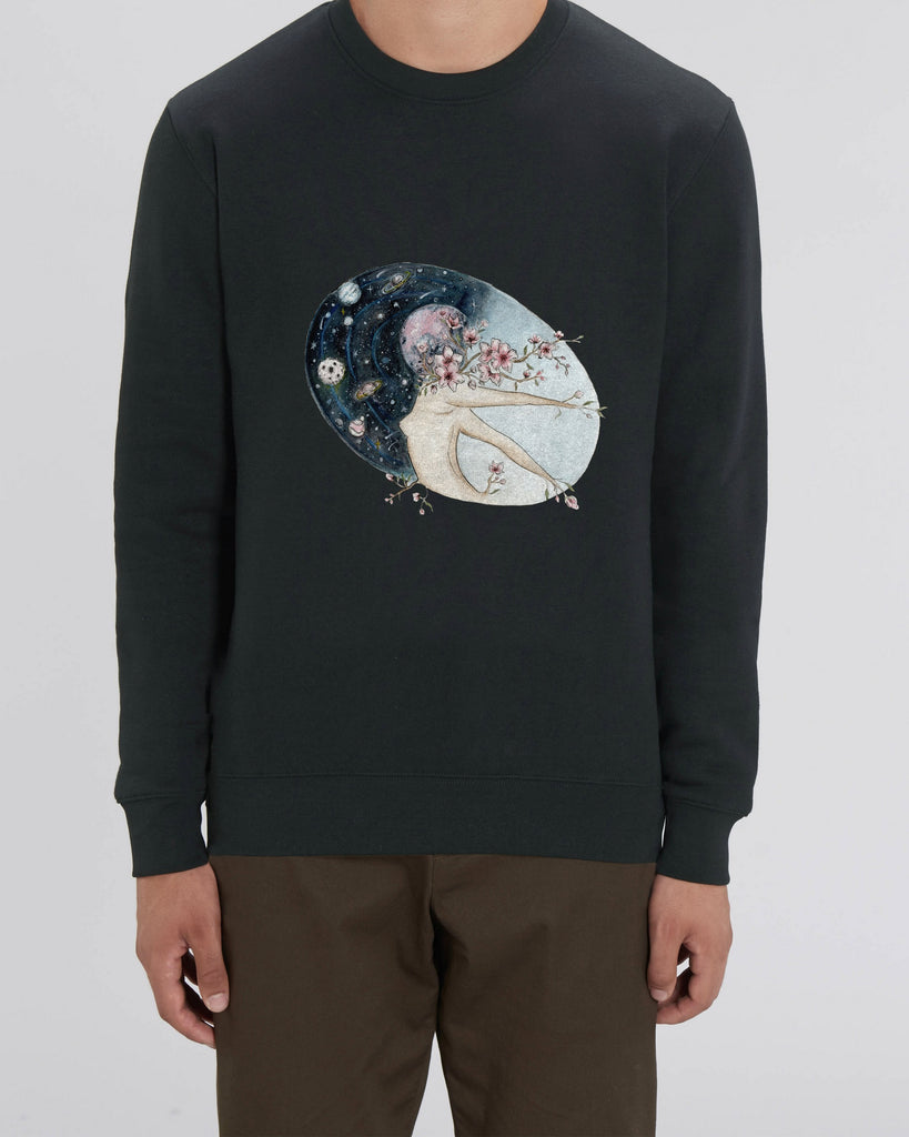 Flower moon - Unisex Organic Cotton Sweatshirt