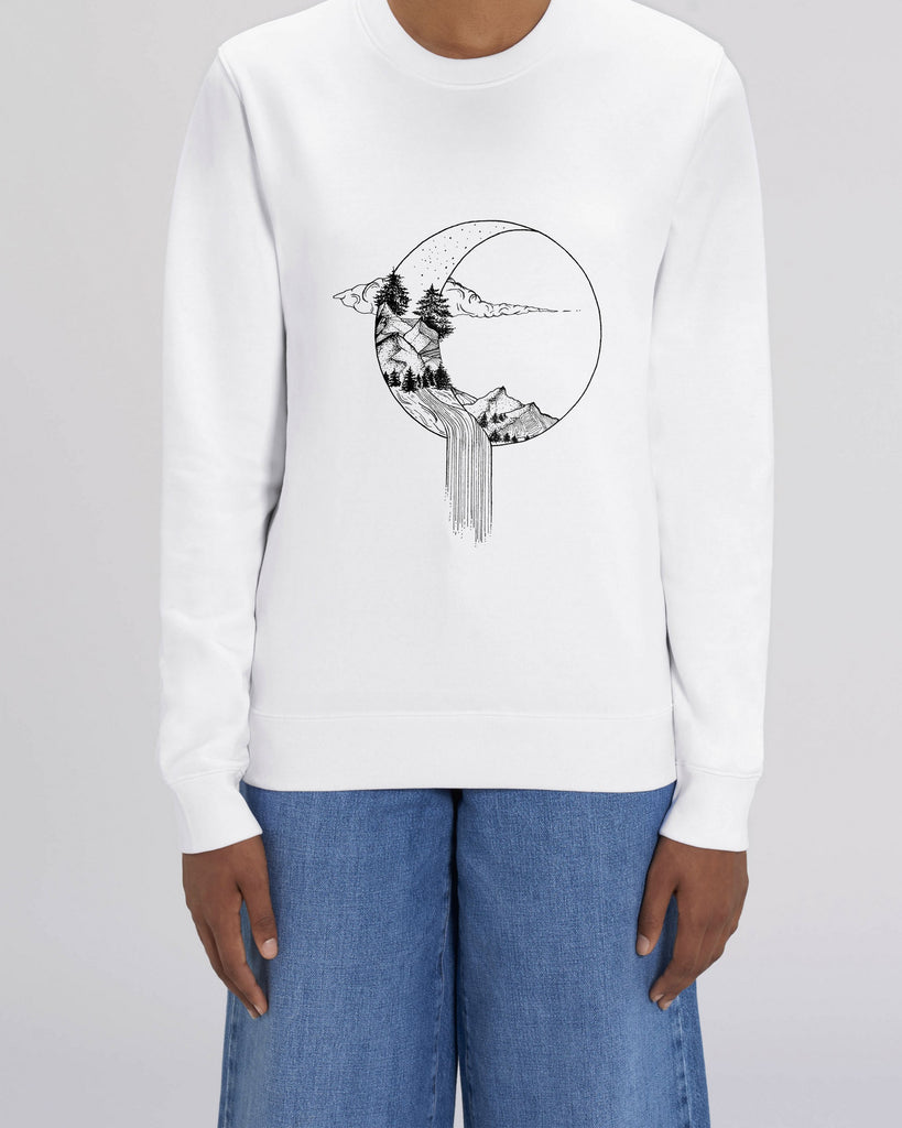 Moon river - Unisex Organic Cotton Sweatshirt