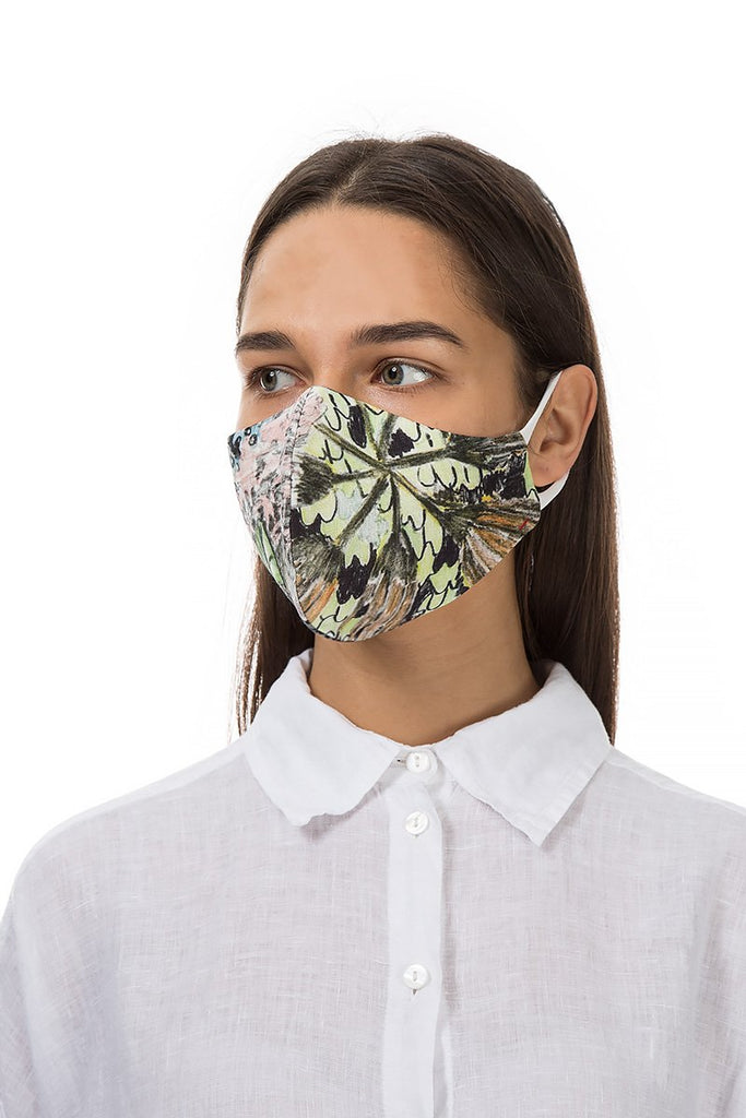 FLOWERS PRINT FACE MASK