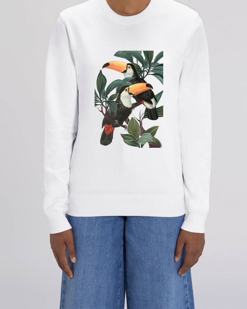 Toucans - Unisex Organic Cotton Sweatshirt