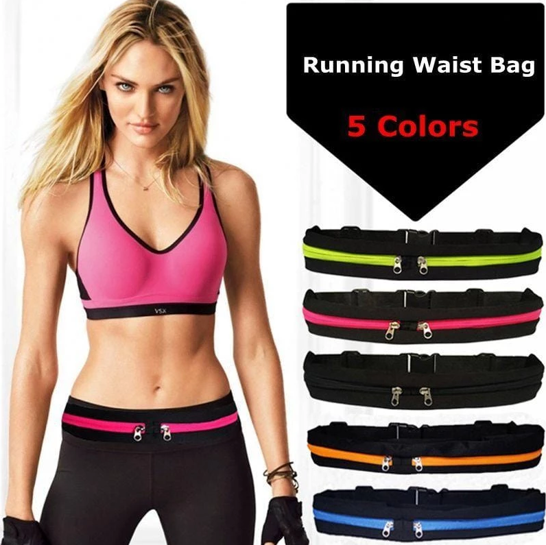 2019 New Style WORKOUT SLIM WAIST POCKET BELT