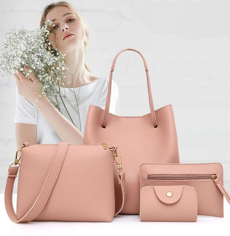 🔥Christmas Super Sale🔥  4 Pcs / 1 Set Lady Leather Handbag